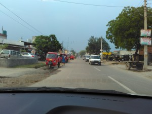 Approaching Dwarka Expressway near Delhi zone