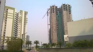 Under construction Eldeco Inspire on right