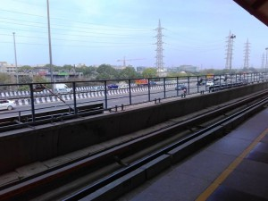View of NH8 From Rapid Metro Gurgaon